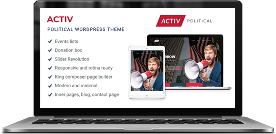 Activ - Political and Activism WordPress Theme