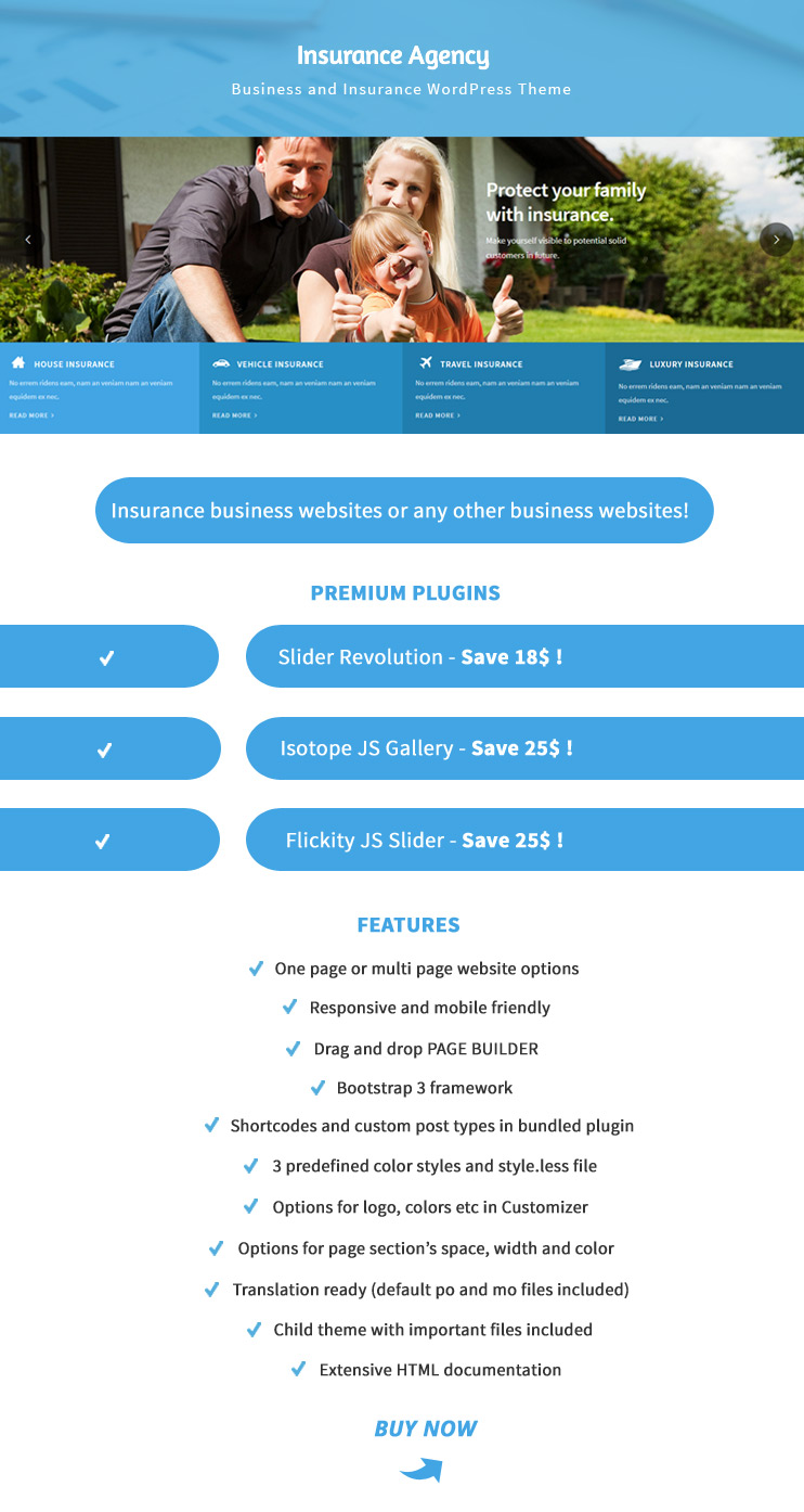 Insurance agency business and insurance wp theme for Bureau insurance